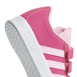 adidas neo VL Court 2.0 CMF C Kinder Sneaker pink weiß F36394 – Bild 3