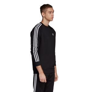 adidas Originals 3-Stripes Crew Sweater Herren schwarz DV1555 – Bild 2