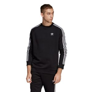 adidas Originals 3-Stripes Crew Sweater Herren schwarz DV1555 – Bild 3