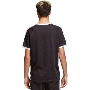 adidas Originals 3-Stripes Tee Herren T-Shirt schwarz CW1202 – Bild 4