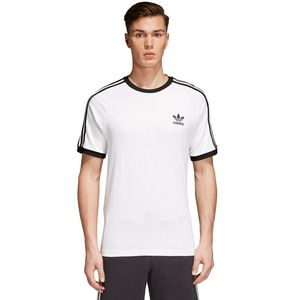 adidas Originals 3-Stripes Tee Herren T-Shirt weiß CW1203 – Bild 2