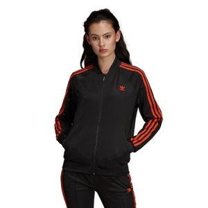 adidas Originals SST Track Top Damen Jacke schwarz orange DU9941 – Bild 4