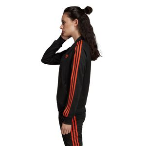 adidas Originals SST Track Top Damen Jacke schwarz orange DU9941 – Bild 5