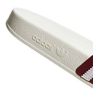 adidas Originals Adilette Badeschuhe off white burgundy BD7574 – Bild 3