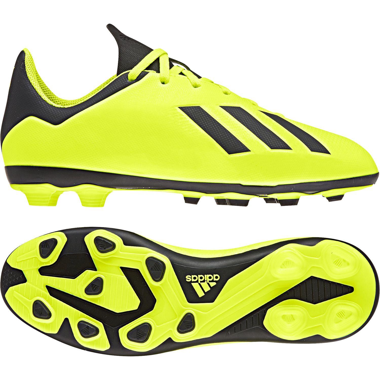 adidas X 18.4 FxG J Kinder Fußballschuhe DB2420 gelb schwarz