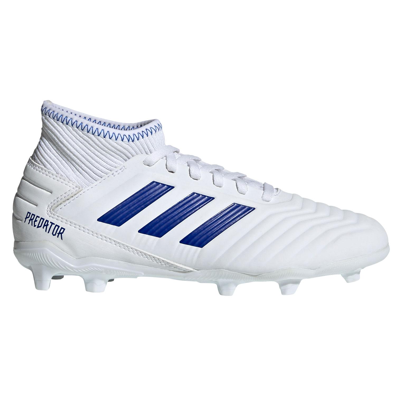 pretty nice cheaper amazon adidas Predator 19.3 FG J Kinder Fußballschuhe weiß blau CM8535