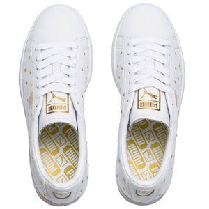 Puma Basket Studs Wn's Damen Sneaker weiß gold 369298 01 – Bild 3