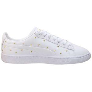 Puma Basket Studs Wn's Damen Sneaker weiß gold 369298 01 – Bild 1