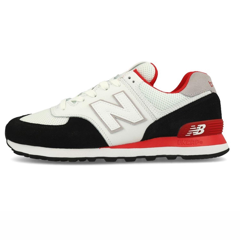 brand new a3ba1 15742 New Balance ML574NSB Herren Sneaker low weiß schwarz rot
