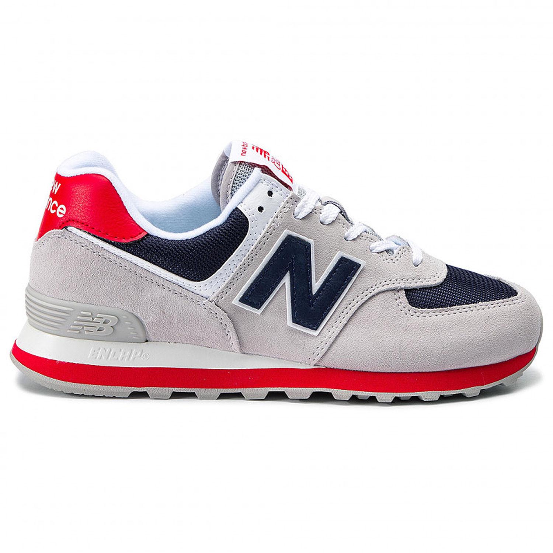 871b28c9ece5a9 New Balance ML574MUB Herren Sneaker hellgrau blau rot 722221-60 12