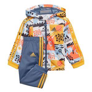 adidas Infant Shiny FZ Hoodie Kleinkind Sportanzug mehrfarbig ED1139 – Bild 1