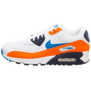 Nike Air Max 90 Essential Herren Sneaker weiß orange blau AJ1285 104 – Bild 2