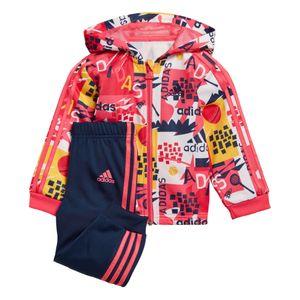 adidas Infant Shiny FZ Hoodie Kleinkind Sportanzug mehrfarbig ED1140 – Bild 1