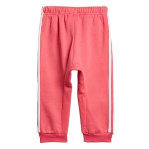 adidas Infant Logo Jogger FL Kleinkind Jogginganzug pink weiß ED1178 – Bild 4