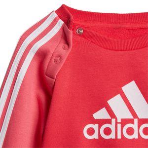 adidas Infant Logo Jogger FL Kleinkind Jogginganzug pink weiß ED1178 – Bild 7