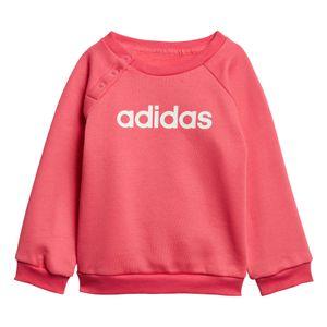 adidas Linear Jogger Fleece Kleinkind Jogginganzug pink grau EI7962 – Bild 2
