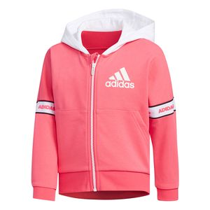 adidas LG FT KN Jacket Kinder Trainingsjacke pink weiß EH4084 – Bild 1