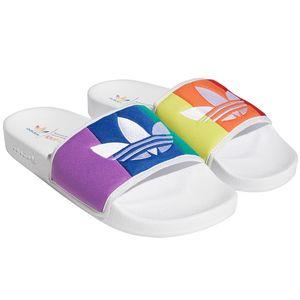 adidas Originals Adilette Pride Badeschuhe weiß bunt EF2317 – Bild 1