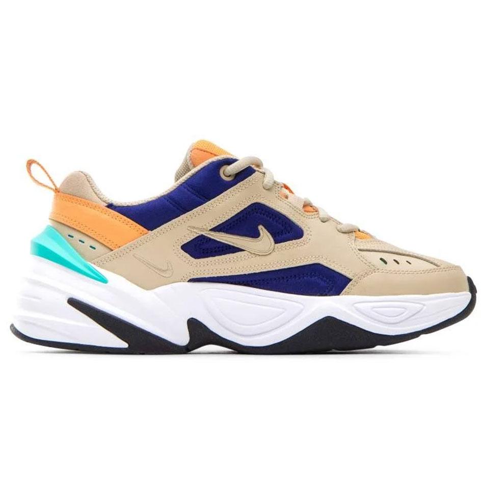 Nike W M2K Tekno Damen Sneaker beige blau orange AO3108 204