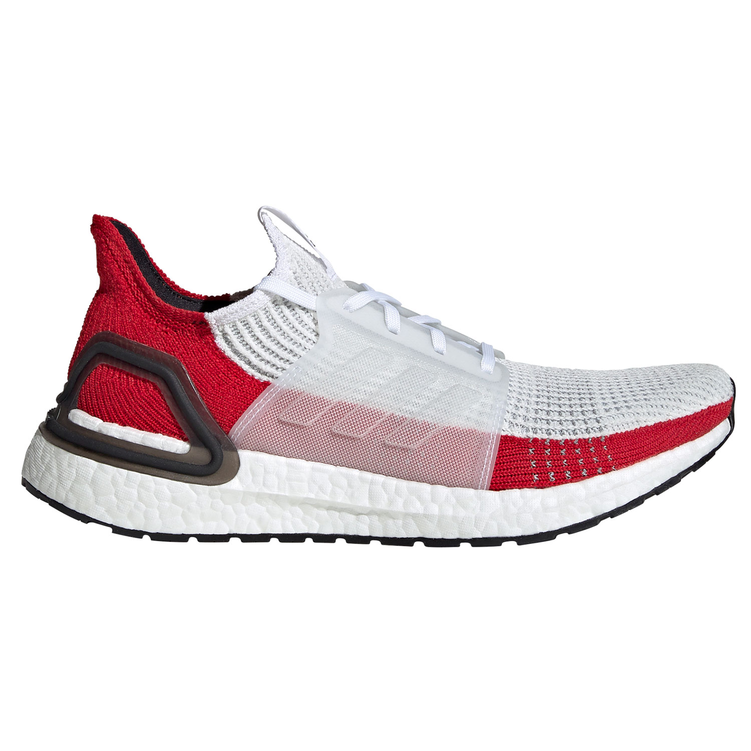factory price reliable quality exclusive range adidas Ultra Boost 19 Herren Running Sneaker weiß rot EF1341