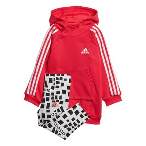 adidas Girls Hooded Dress Set Kleinkind Jogginganzug pink weiß ED1155 – Bild 1