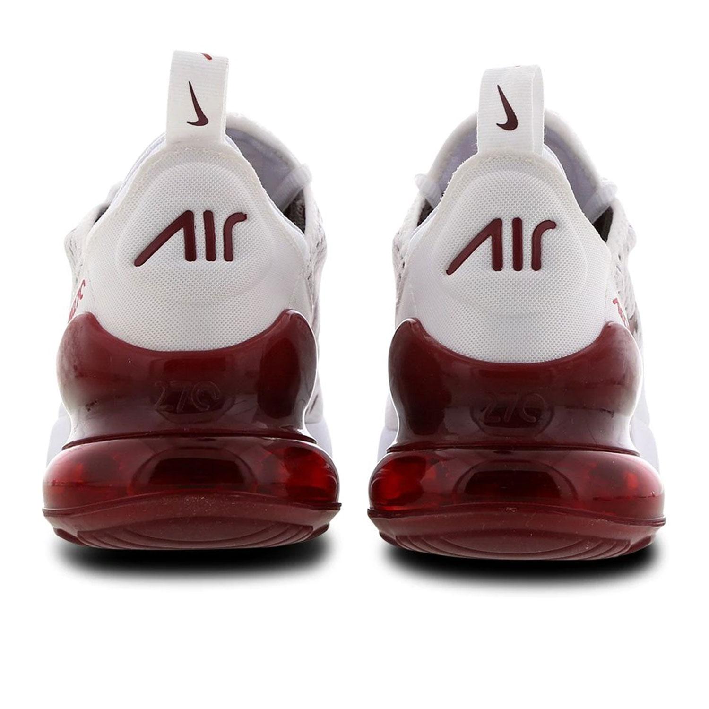 Nike Air Max 270 GS Kinder Sneaker weiß weinrot CJ4580 101