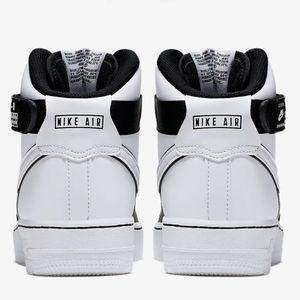 Nike Air Force 1 High LV8 2 GS Sneaker schwarz weiß CI2164 010 – Bild 4