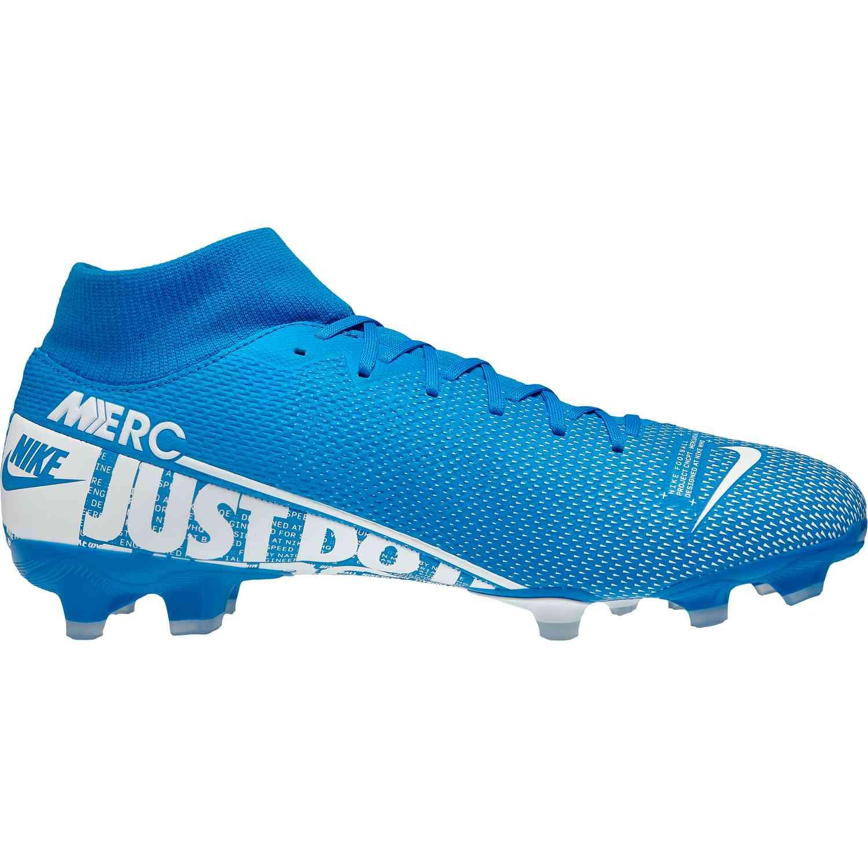 Nike Superfly 7 Academy Fg Mg Fussballschuhe Blau Weiss At7946 414