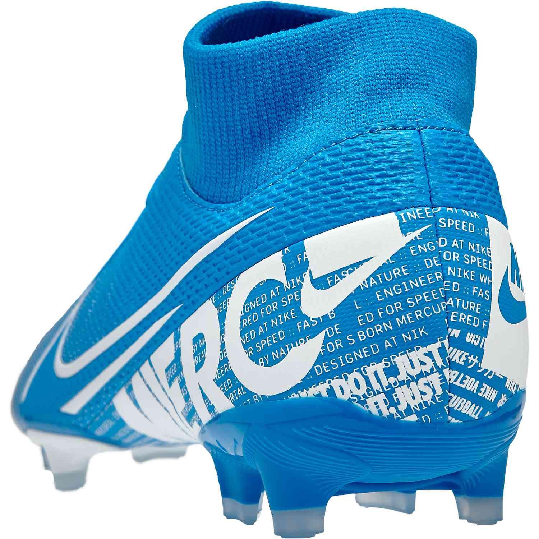 Nike Superfly 7 Academy FGMG Fußballschuhe blau weiß AT7946 414