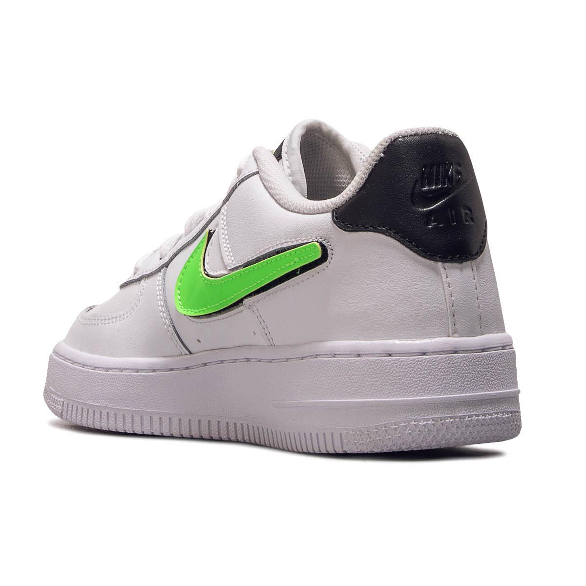 new cheap best loved good service Nike Air Force 1 LV8 3 GS Sneaker weiß grün schwarz AR7446 100