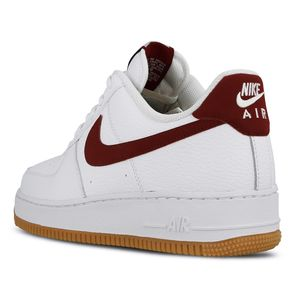 Nike Air Force 1 `07 2 Herren Sneaker weiß weinrot CI0057 101 – Bild 3