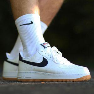 Nike Air Force 1 `07 2 Herren Sneaker weiß dunkelblau CI0057 100 – Bild 7