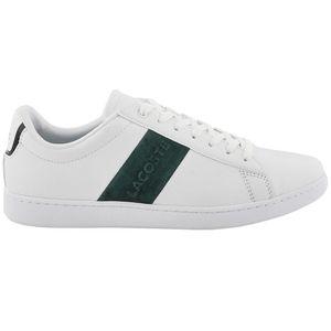 Lacoste Carnaby Evo Herren Sneaker Leather weiß grün low
