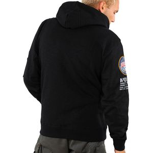Alpha Industries Apollo 11 Hoody Pullover schwarz 188310/03 – Bild 3