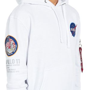 Alpha Industries Apollo 11 Hoody Pullover weiß 188310/09 – Bild 3