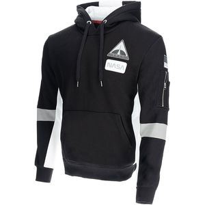 Alpha Industries Space Camp Hoody Pullover schwarz weiß 198312/03 – Bild 1