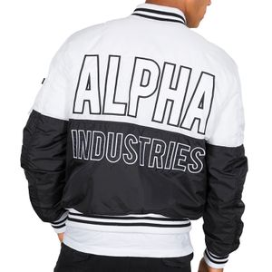 Alpha Industries Herren Jacke MA-1 Block weiß schwarz – Bild 3