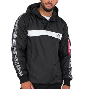 Alpha Industries AI Tape Anorak Herrenjacke schwarz 198133/03 – Bild 1