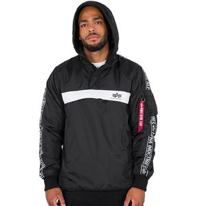 Alpha Industries AI Tape Anorak Herrenjacke schwarz 198133/03 – Bild 2