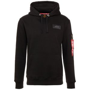 Alpha Industries Back Print Hoody Pullover schwarz chrome 178318 373 – Bild 1