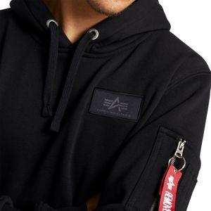Alpha Industries Back Print Hoody Pullover schwarz chrome 178318 373 – Bild 2