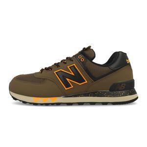 New Balance ML574NFM Herren Sneaker braun schwarz gelb 738201-60-6 – Bild 2