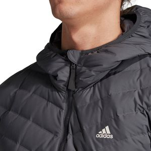 adidas Performance Varilite 3S Hooded Jacket Herrenjacke grau DZ1420  – Bild 4