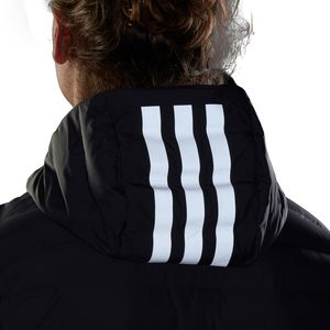 adidas Performance Varilite 3S Hooded Jacket Herrenjacke grau DZ1420  – Bild 6