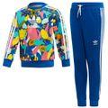 adidas Originals Crew Set Kleinkind Anzug blau mehrfarbig ED7775