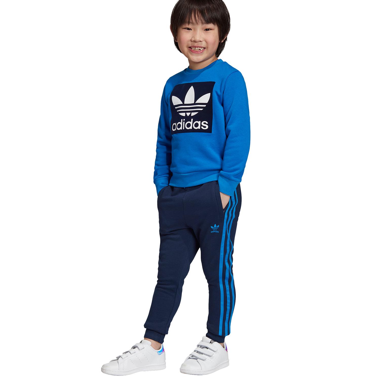 buy popular 6c405 6bb96 adidas Originals Crew Set Kleinkind Anzug blau dunkelblau ED7727