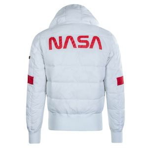 Alpha Industries Herren Hooded Puffer NASA weiß  – Bild 2