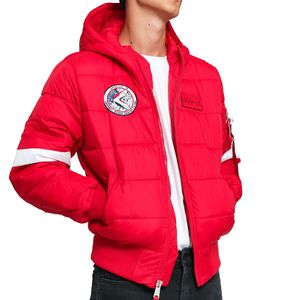 Alpha Industries Hooded Puffer FD NASA Herrenjacke rot 198121/328 – Bild 1