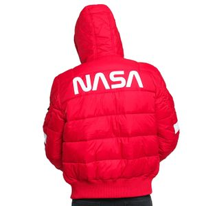 Alpha Industries Herren Hooded Puffer NASA speed red  – Bild 2