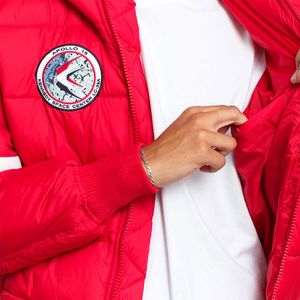 Alpha Industries Hooded Puffer FD NASA Herrenjacke rot 198121/328 – Bild 3